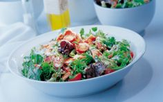 Bacon Salad with Blue Cheese Dressing - Quality Kitchen Bacon Recipes, Cheese Recipes, Cooking Bacon, Cooking Time, Bacon Salad, Potato Salad, Irish Bacon, Blue Cheese Dressing, Quality Kitchens