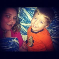 My daughter and grandson