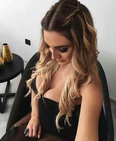 58 Elegant Hairstyles For Prom 2019 58 elegante Frisuren f Chic Hairstyles, Box Braids Hairstyles, Elegant Hairstyles, Wedding Hairstyles, Hairstyle Ideas, Amazing Hairstyles, Layered Hairstyles, Style Hairstyle, Long Hair Formal Hairstyles
