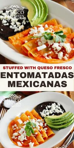 Real Mexican Food, Healthy Mexican Food, Easy Mexican Food Recipes, Entomatadas Recipe, Mexican Dishes, Mexican Potluck, Queso Fresco, Recipe Steps, Kitchen Recipes