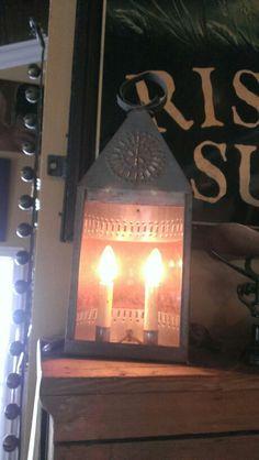 Old tin light