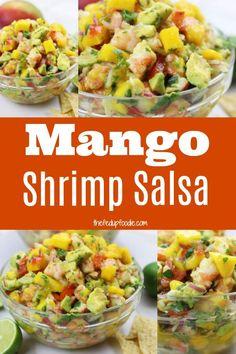 The Best BBQ Pork Ribs Recipe Ingredients – Grilling Doctor Shrimp Mango Salad, Shrimp Salsa Recipe, Best Grilled Shrimp Recipe, Mexican Shrimp Recipes, Shrimp Recipes For Dinner, Seafood Recipes, Appetizer Recipes, Shrimp Appetizers, Appetizer Ideas