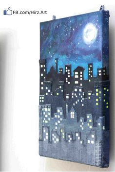 My first Jeans Canvas – A Beautiful Night in A Beautiful City (Amman in Jeans) | 7irz