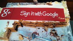 Sign in with Google+ cake. #google+ #google