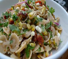 Hodgson Mill contest Grilled Corn and Sun-Dried Tomato Pasta Salad-By Julie O'Hara