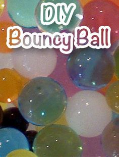 Bouncy Balls (aka Polymer Ball) are actually a fun little DIY science project.