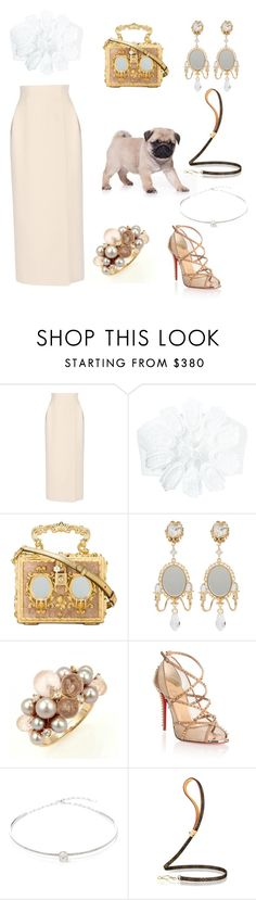 """""""Pug Life (Lol, I know - my sense of humour is lame)"""" by neo-gamede ❤ liked on Polyvore featuring Delpozo, Dolce&Gabbana, Mimí, Christian Louboutin and Jack Vartanian"""