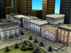 3d model street environment games - RT_Commercial_Maya5.zip... by ES3DStudios