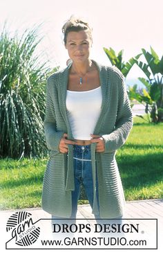 69-8 Cardigan By DROPS Design - Free Knitted Pattern - (ravelry)