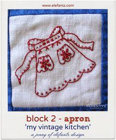 Block 2 'The Vintage Kitchen' - apron...free BOM!