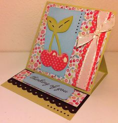 Thinking of You Card made with Cricut® Nifty Fifties Cartridge