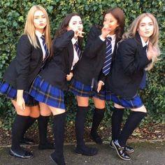 All girls school, school girl dress, school dresses, too cool for school,. School Uniform Outfits, College Uniform, Cute School Uniforms, Girls Uniforms, All Girls School, School Girl Dress, School Dresses, Girls Dresses, School School