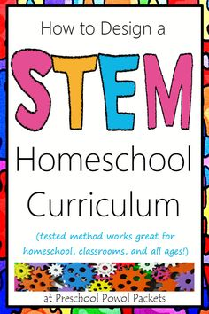 Wow!! This is practically a class on curriculum design! Great instructions & free printables on how to design your own STEM Homeschool Curriculum!