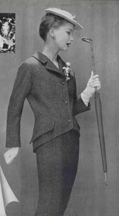 1955 christian dior  tweed