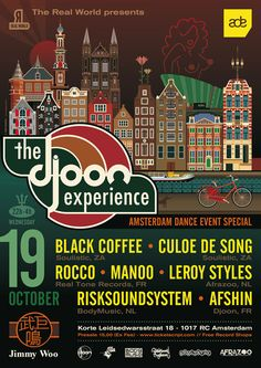 Artwork for The Djoon Experience party at the Amsterdam Dance Event !