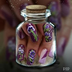 Flower Nail Art, The Incredibles, Flowers, Painting, Painting Art, Paintings, Paint, Draw, Royal Icing Flowers
