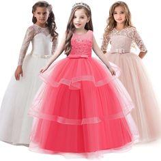 Girls New Zip Front Spot Dress Kids Sleeveless Lace Skater Dress Age 3-14 Years