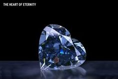 The Heart of Eternity.  Color and clarity have been compared with the Hope Diamond. Diamond size 24.40 mm in diameter and 8.29 mm in depth. Facet 82 has been arranged in an atypical pattern. Stars in terms of crown divided vertically and the pavilion has sixteen needle-like facets, arranged in pairs, pointing outward from the culet terms.