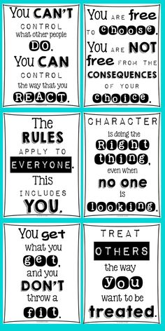 FREE Classroom Posters For Every Teacher from Light Bulbs and Laughter. Because we all teach character education...
