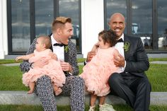What's cuter than babies in weddings in coral ruffle dresses? {Dani Fine Photography}