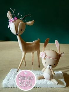 Animales Del Bosque - $ 380,00 en Mercado Libre Fimo Clay, Polymer Clay Charms, Woodland Creatures, Woodland Animals, Noahs Ark Cake, Fondant People, Forest Party, Forest Cake, Paper Flower Patterns