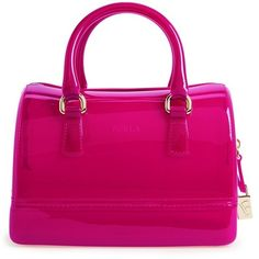 Furla Women's Furla 'Mini Candy' Satchel ($185) ❤ liked on Polyvore featuring bags, handbags, dragon fruit, satchel handbags, furla satchel, furla purses, mini satchel and pink satchel purse