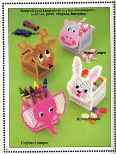 everything plastic canvas | ... on Plastic Canvas Kids Can Stitch from Plaid - Plastic Canvas Patterns
