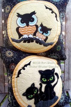 MeowL pillow patterns by Cori Blunt | Chitter Chatter Designs for Halloween