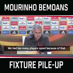 Manchester United have been showered with fixtures in April and Jose Mourinho is not happy about it.  Full video: es.pn/2pKXySG