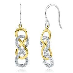Infinity X Infinity™ 1/3 ct. tw. Diamond Dangle Earrings in Sterling Silver
