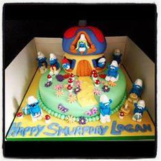 Smurftastic Smurf Cake The Swoon Bakery Retford