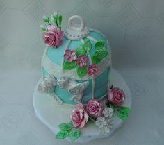 Birds Cake & Roses - *
