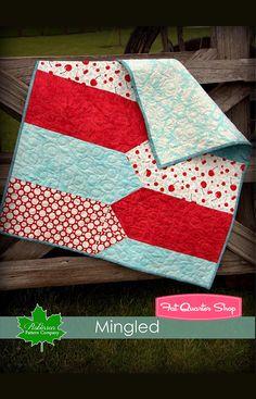 Mingled Downloadable PDF Quilt Pattern Robinson Pattern Company - Fat Quarter Shop