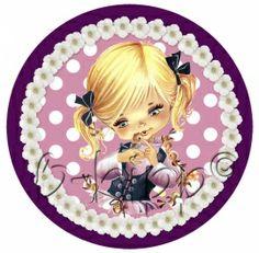full color strijkapplicatie cutie | Full color strijkapplicaties meisjes | B-hipp