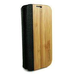 Samsung S4 Houdt Bamboo & Leather Flip Case  #SamsungS4  #SamsungCovers #SamsungWoodenPhoneCovers