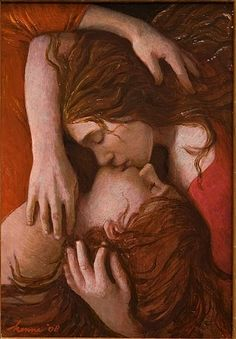 """Lovers""      "" — Title Unknown — ""    by Kenne Gregoire (1951)."