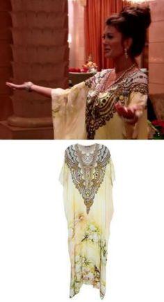 Lisa Vanderpump's Kaftan in Dubai http://www.bigblondehair.com/real-housewives/lisa-vanderpumps-white-caftan-dubai/ Shahida Parides / Real Housewives of Beverly Hills Fashion Season 6