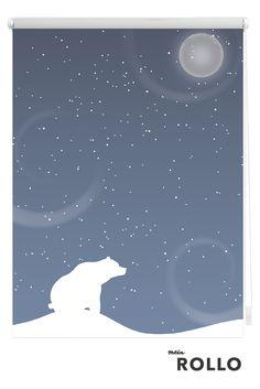 Mein Rollo - das Rollo zum Selbstgestalten.Du bist auf der Suche nach einer besonderen Fensterdekoration? Dann besuche uns auf www.meinrollo.de. Hier kannst Du Dich inspirieren lassen und aus über 1000 wunderschönen Rollo-Motiven das schönste für Dein Zuhause finden. Viel Spaß beim Aussuchen!(Kinderzimmer-Deko, Eisbär, Winterdekoration,Diy, Sonnenschutz,Sterne)