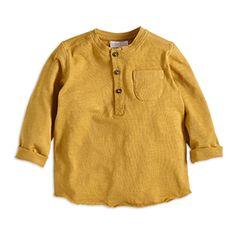 Grandad Shirt Yellow