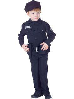 boys black police costume party city