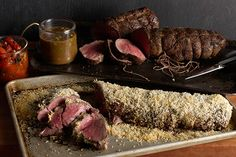 Find the recipe for Porcini-Crusted Beef Tenderloin with Truffle Butter Sauce and other meat recipes at Epicurious.com