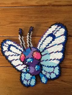 Butterfree from perler beads