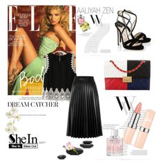 """Shein Contest"" by albinnaflower ❤ liked on Polyvore featuring Balenciaga, Chanel, Jimmy Choo, Aviù and Pier 1 Imports"