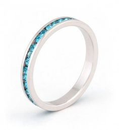 Channel set sapphire Swarovski crystals highlight this stylish stackable band. $14 @ JGOOD