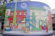 Cool murals Sesame Street Graffiti-MURAL WORLD