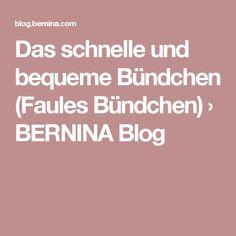 Das schnelle und bequeme Bündchen (Faules Bündchen) › BERNINA Blog