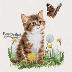 Kitten (FREE x-stitch pattern)