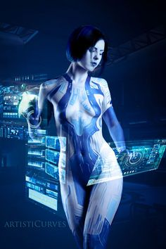 Cortana Body Paint http://geekxgirls.com/article.php?ID=5038