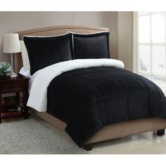 VCNY Micro Mink Sherpa Comforter Set & Reviews | Wayfair