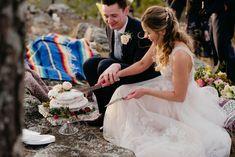 Real Arkansas Weddings: Lynzie Thoman & Colton Wylie's Mountaintop Micro-Wedding - Arkansas Bride Arkansas, Amazing Cakes, Flower Girl Dresses, Weddings, Bride, Wedding Dresses, Fashion, Wedding Bride, Bride Dresses